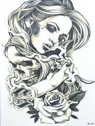 Hasil Gambar Untuk Tato Gambar Wajah Wanita Cantik