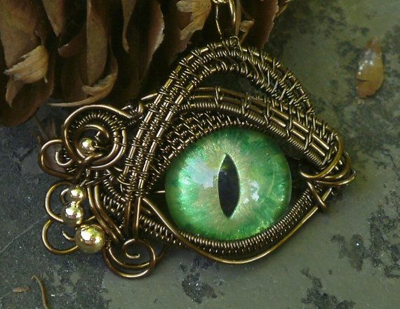 Gothic Steampunk Itty Bitty Evil Eye