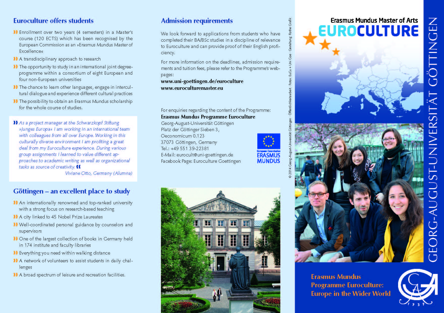 Euroculture Göttingen Promotional Flyer 1/2