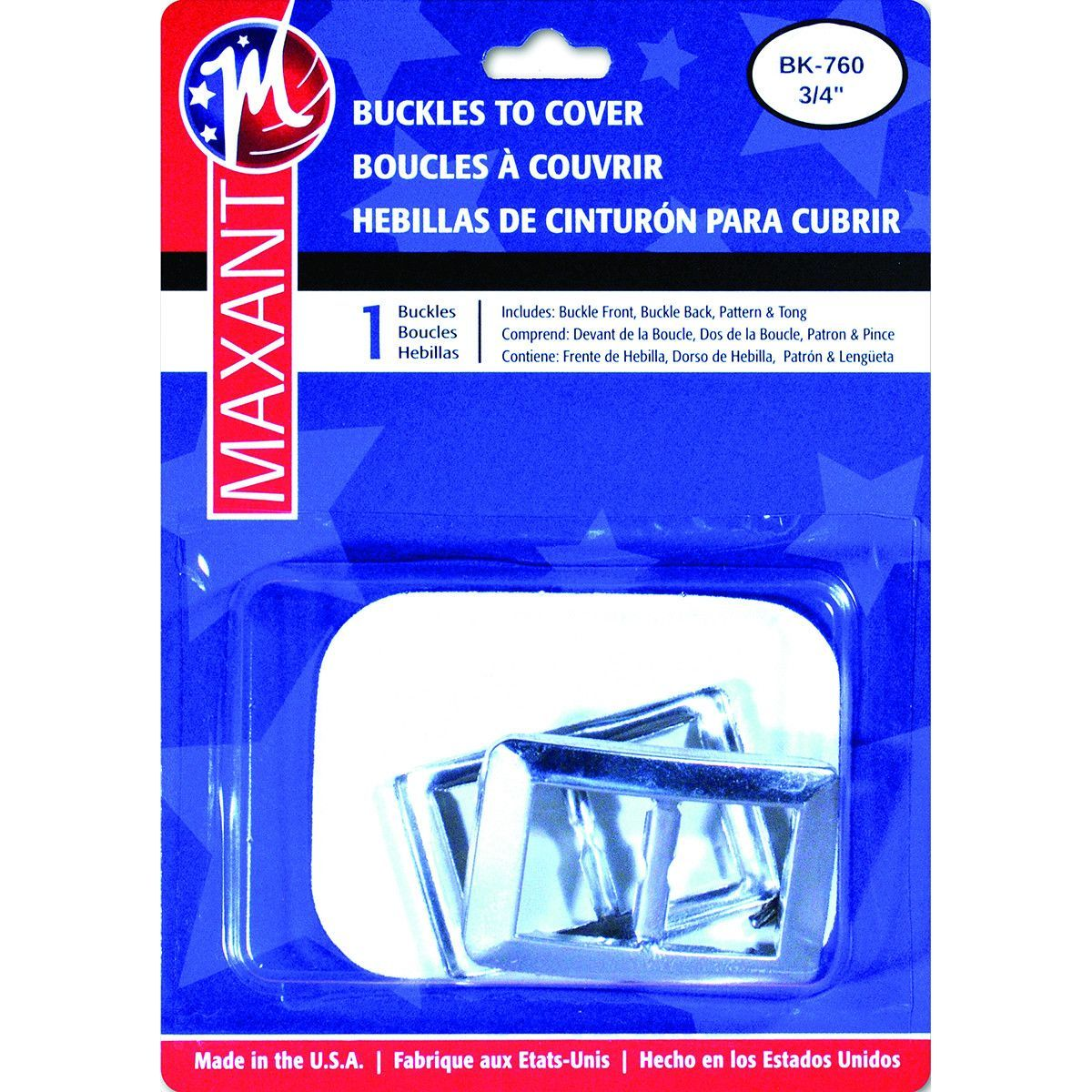 """Buckle Cover Kit-.75"""""""" Rectangle"""