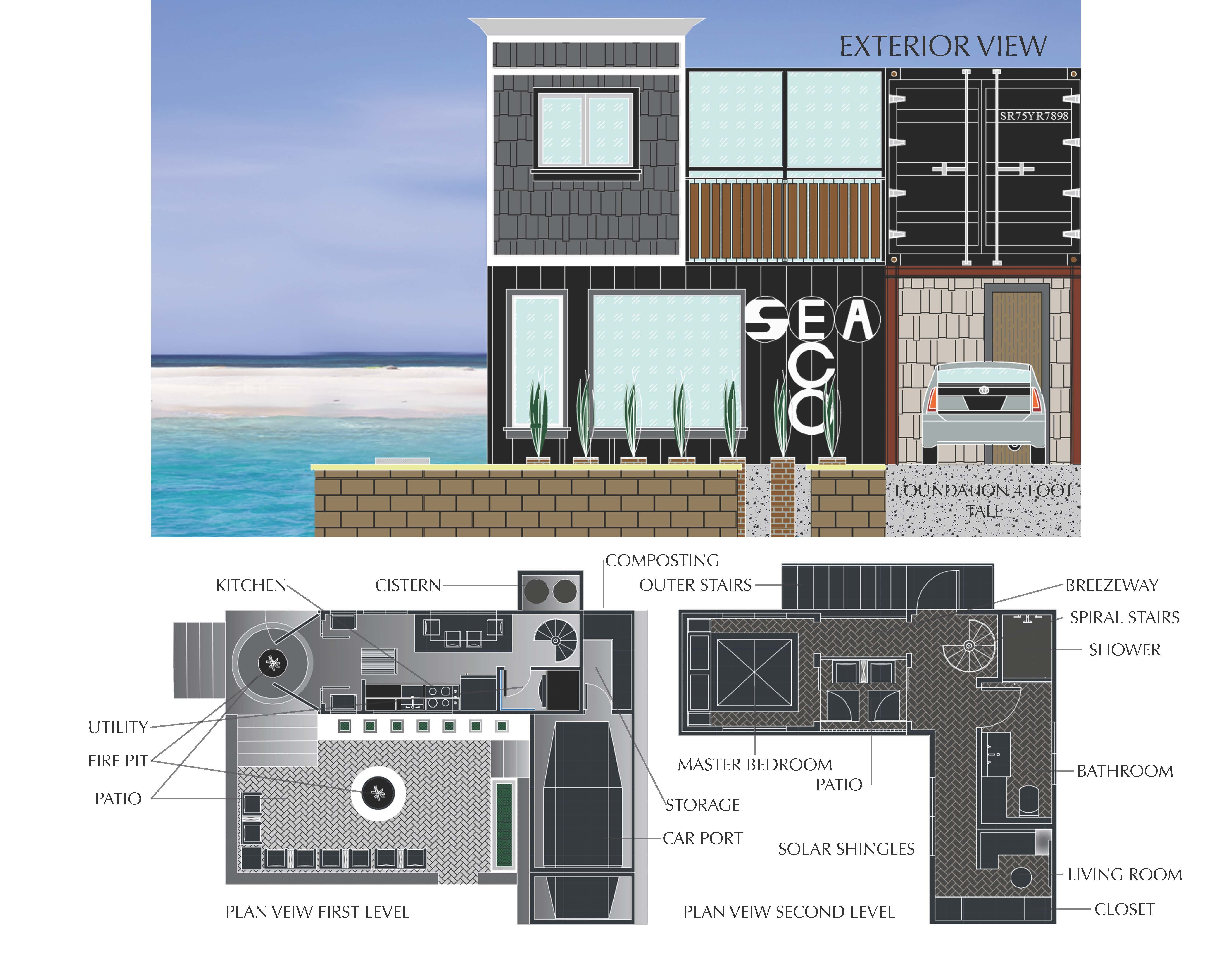 Front Elevation Interior Floor Plans In Photoshop Interior Floor Plan Portfolio Design Interior Design Portfolio