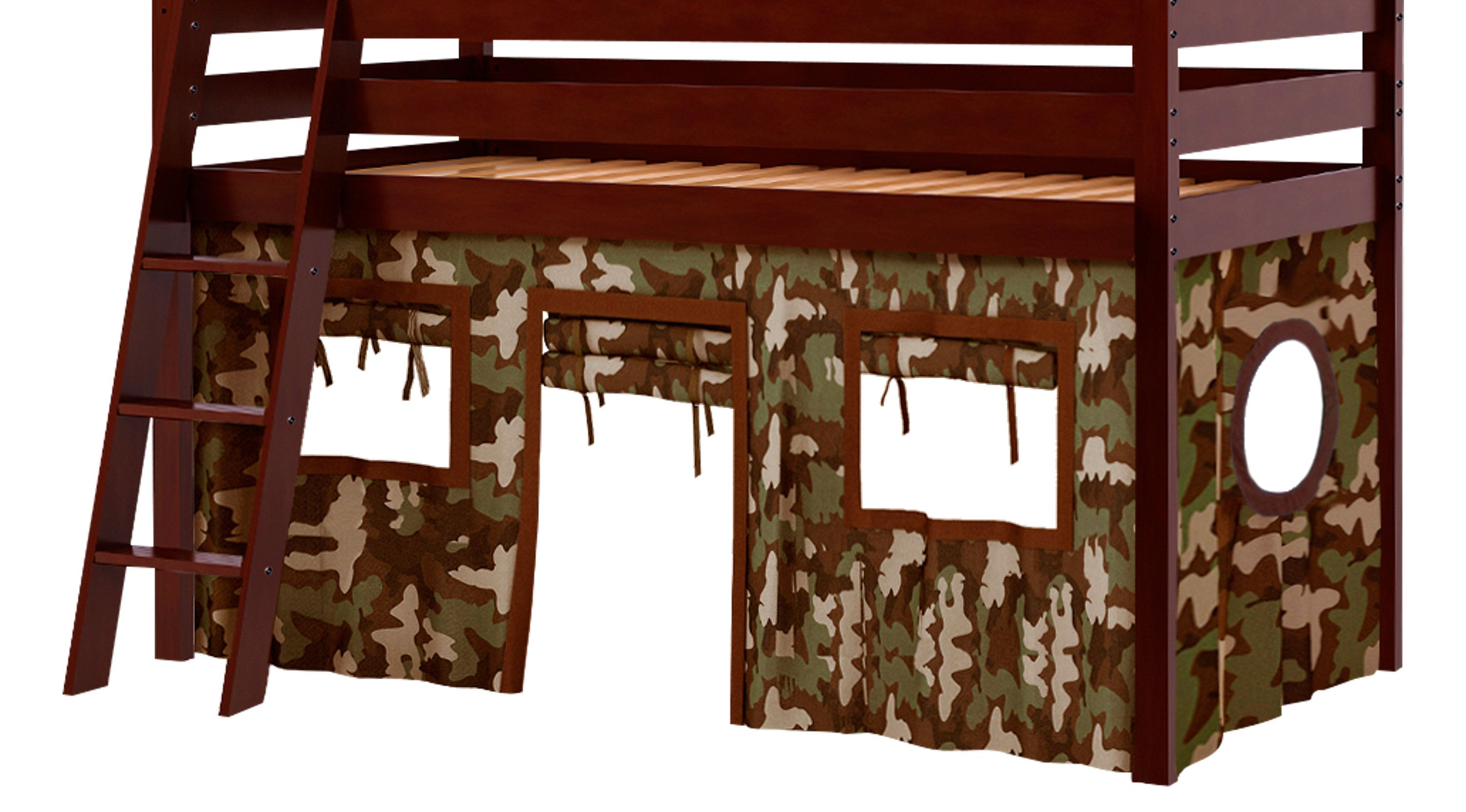 Bunk Beds Rooms To Go Camo Cabin Cherry Jr Tent Loft Bed 3487033p Loft Bed Rooms To Go Furniture Bunk Bed Rooms