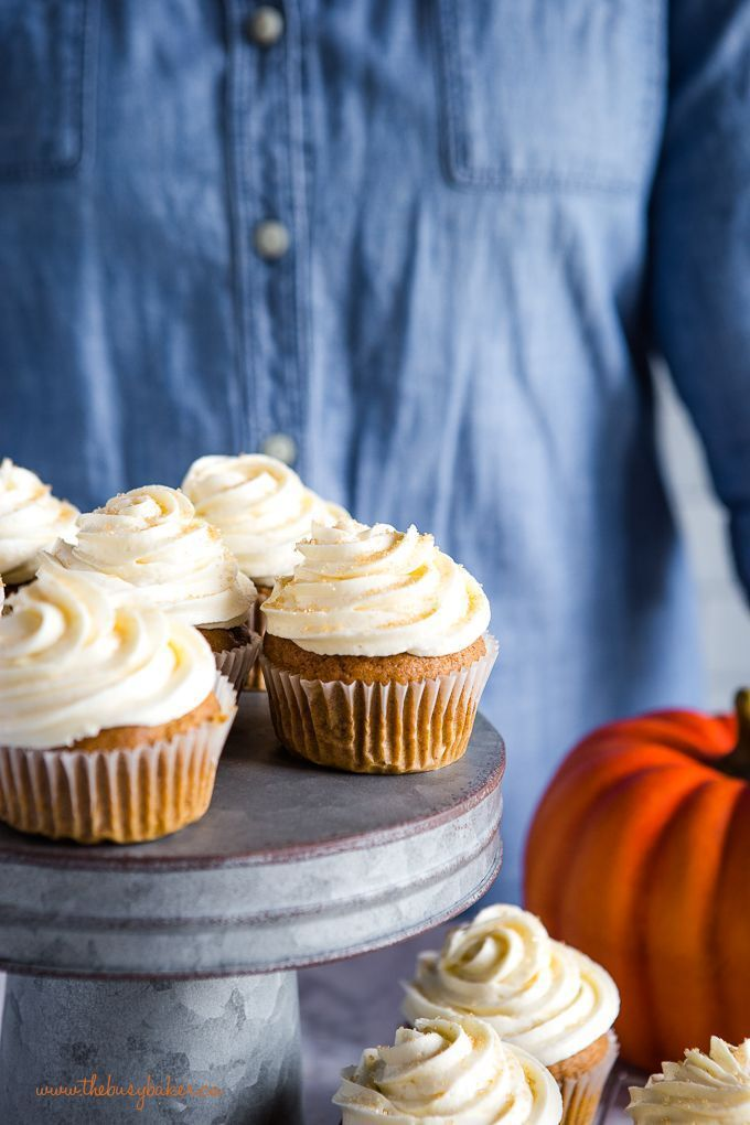 Pumpkin Spice Cupcakes #pumpkinspicecupcakes This easy cupcakes recipe for Pumpkin Spice Cupcakes makes a great fall dessert with the perfect tender pumpkin cake and fluffy cream cheese frosting! Recipe from thebusbaker.ca! #cupcakes #pumpkinspice #pumpkin #fall #autumn #creamcheesefrosting #recipe #thanksgiving #pumpkinspicecupcakes Pumpkin Spice Cupcakes #pumpkinspicecupcakes This easy cupcakes recipe for Pumpkin Spice Cupcakes makes a great fall dessert with the perfect tender pumpkin cake an #pumpkinspicecupcakes