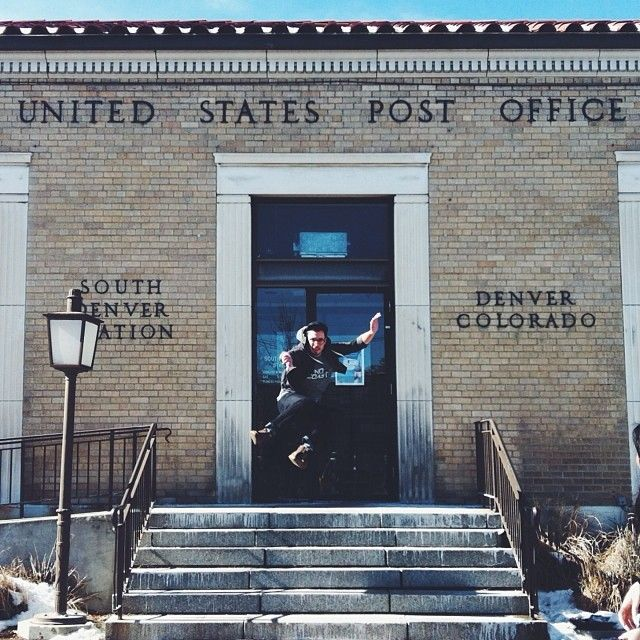 when friends have hops... even a post office becomes a fun backdrop. action-shot portraits are the best!