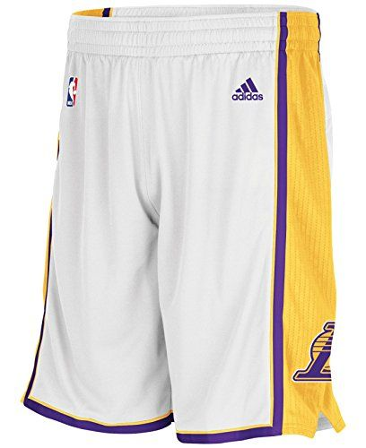 Los Angeles Lakers Nba Adidas Mesh Swingman Home Alternate White Gold Shorts Dansbasketball Basketball Adidas Swi Nba Outfit Adidas Men Adidas Los Angeles