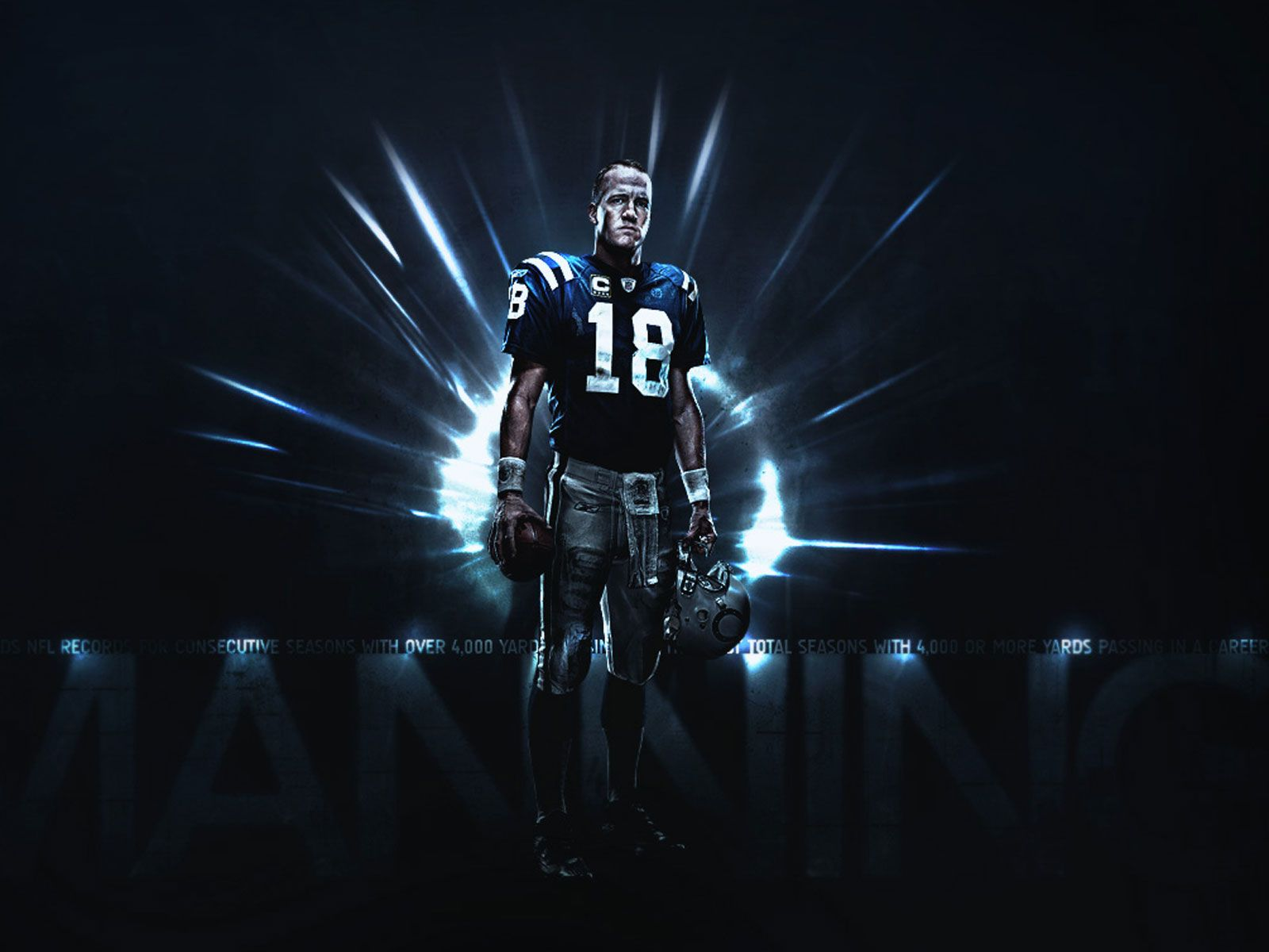 Peyton Manning Indianapolis Colts Poster Wallpaper