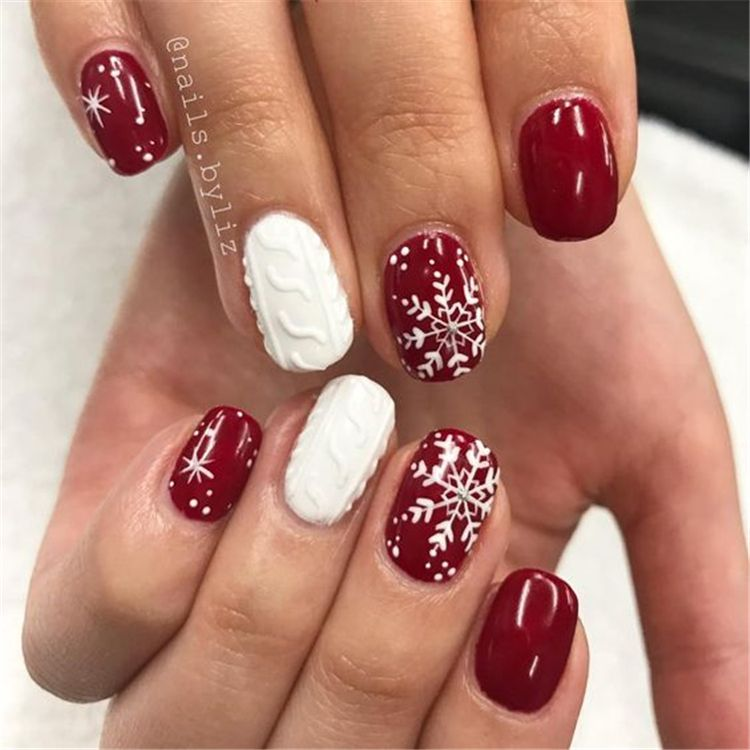 30+ Snowflake Square Winter Nails Ideas Try In 2019 \u2013 Page