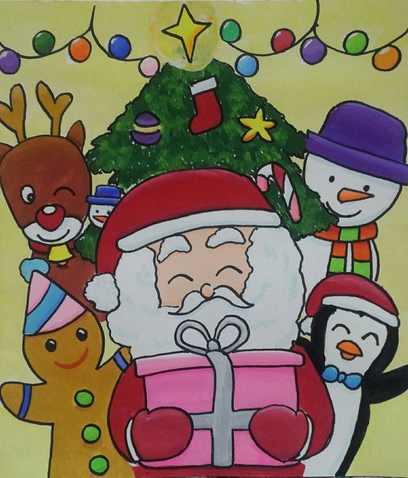 Christmas Festival Cartoon Images.My Favorite Festival Is Christmas I Like Draw Everything