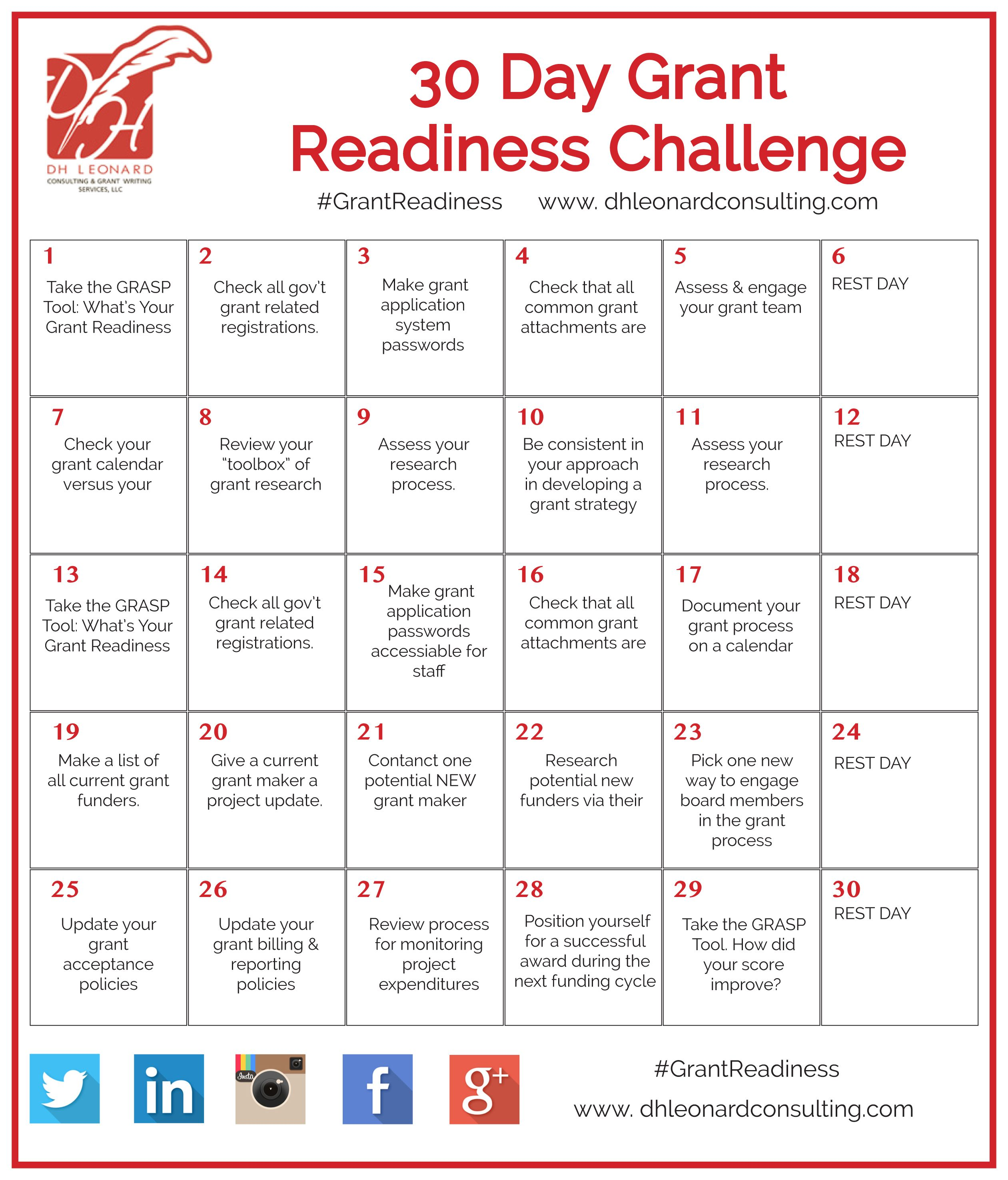November 1st We Are Launching Our 30 Day #GrantReadiness