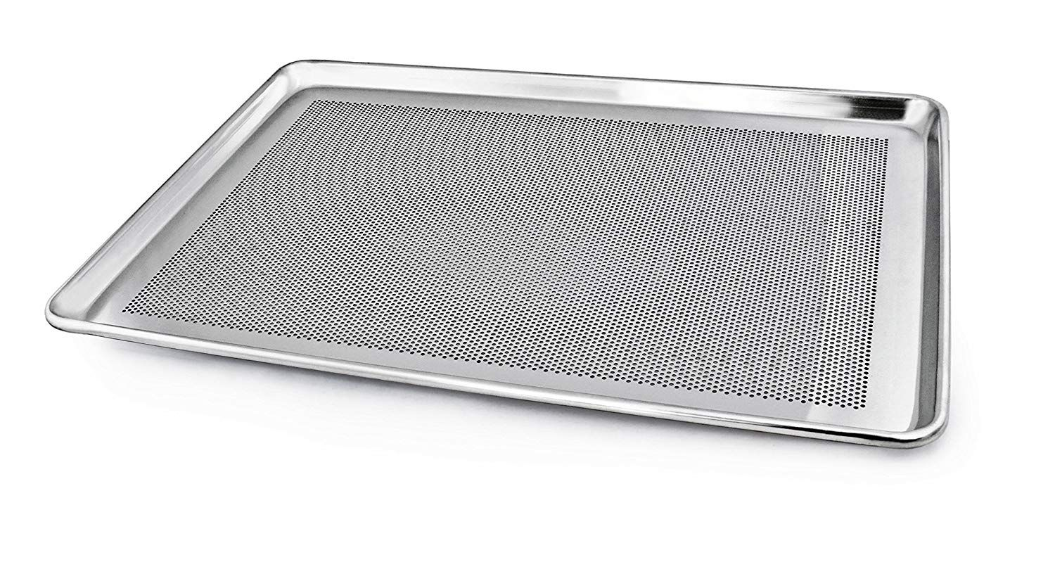 New Star Foodservice 36787 Commercial 18 Gauge Aluminum Sheet Pan Perforated 18 X 26 X 1 Inch Full Size Pack Of 12 Sheet Pan Aluminium Sheet Food Service