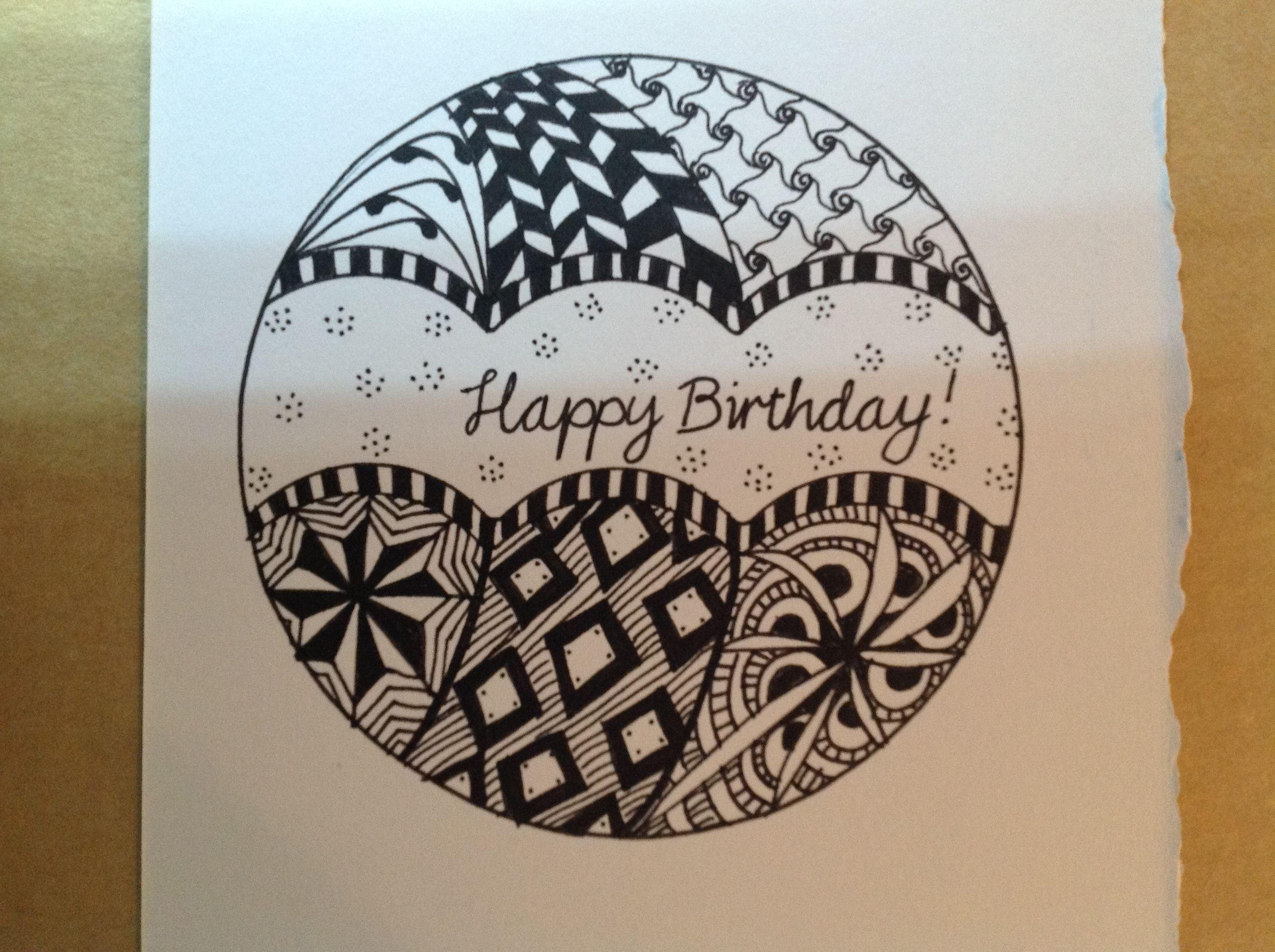 Zentangles Birthday  Zentangle patterns, Zentangle drawings