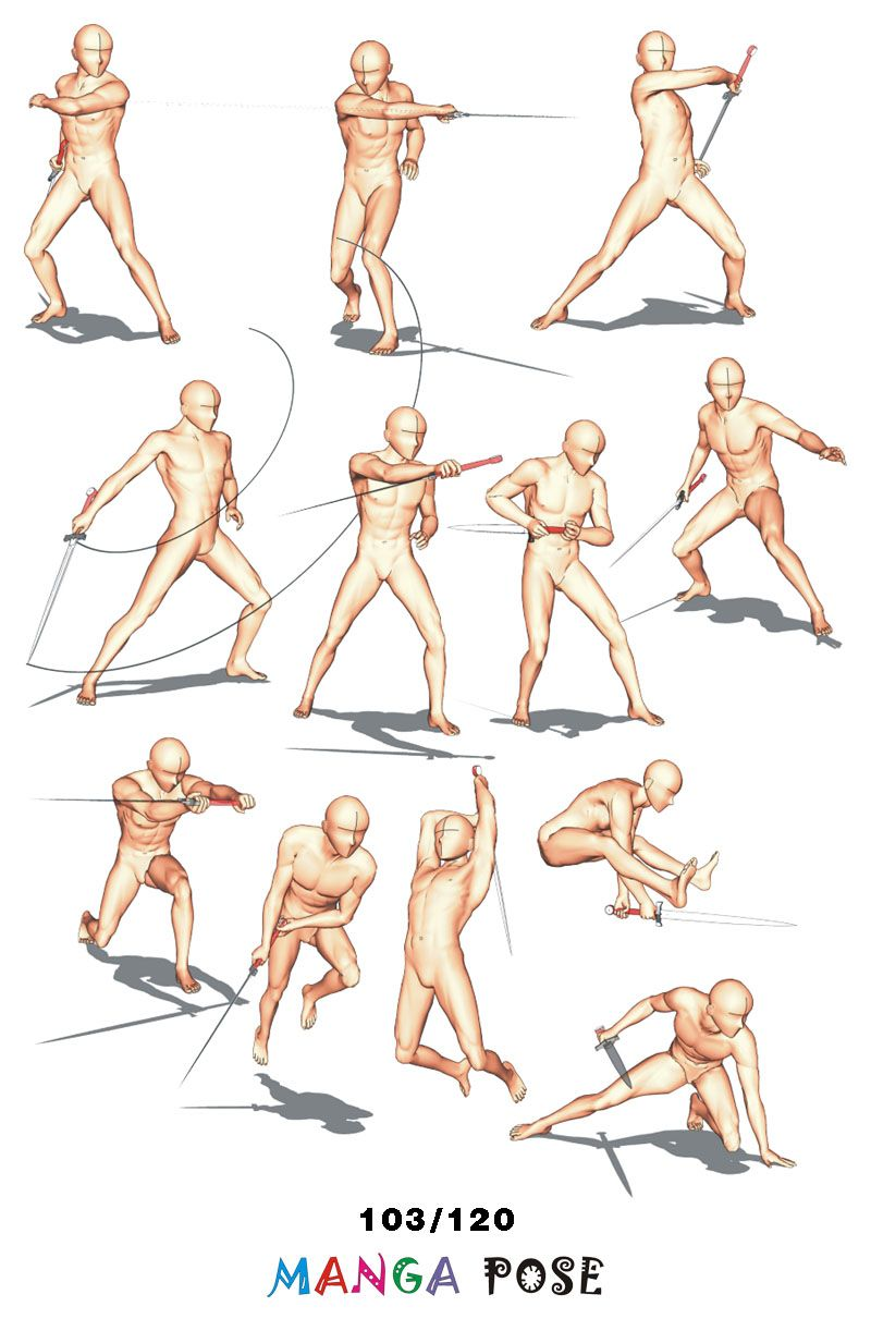 Tutorial Drawing Manga Pose Big Posebook For Manga Anime Character Sword Poses Manga Poses Anime Poses Reference Pose Reference