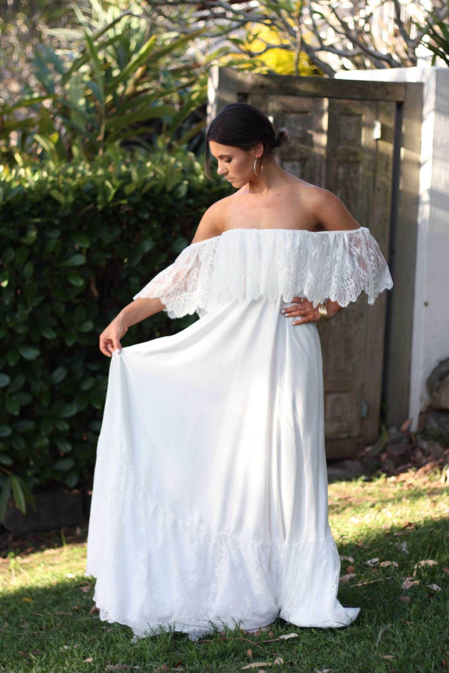 Claudine shull pinterest hippy wedding dresses hippie