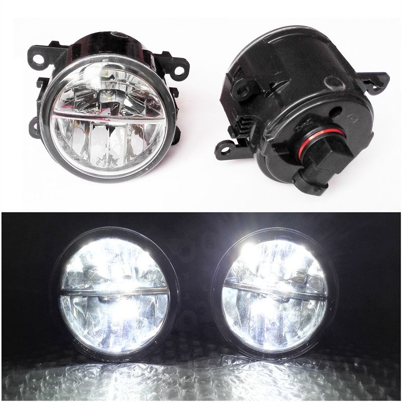 Car Styling 6000K White 10W CCC High Power LED Fog Lamps DRL Lights For  Renault Scenic