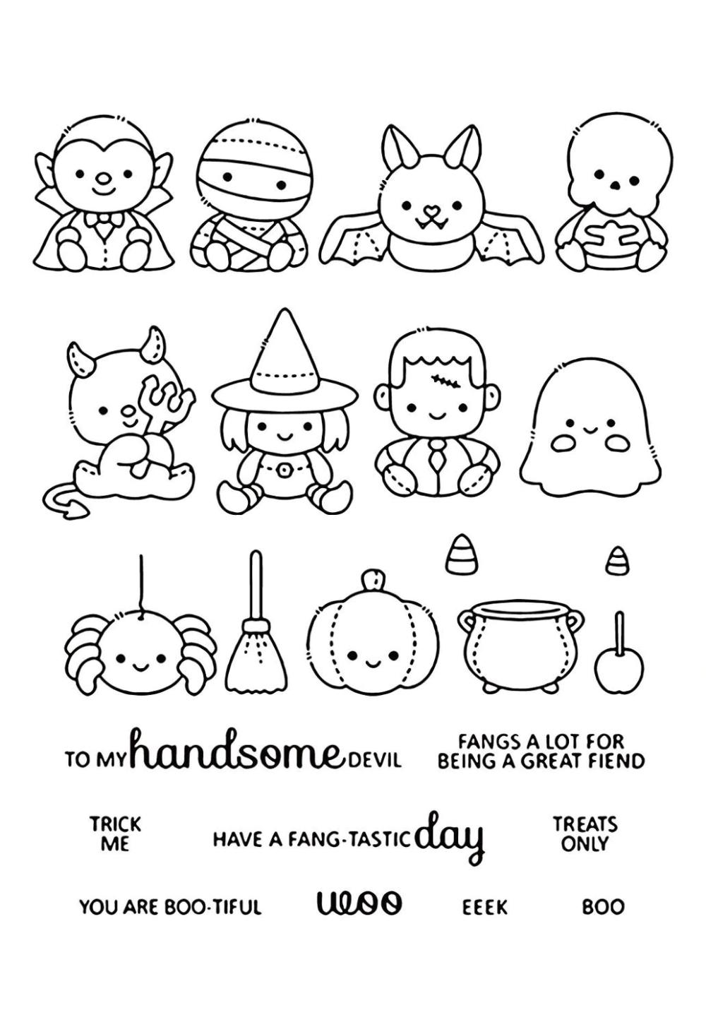 Achetez Malin Vivez Mieux Aliexpress Com Dibujos De Halloween Faciles Dibujos De Halloween Halloween Para Colorear