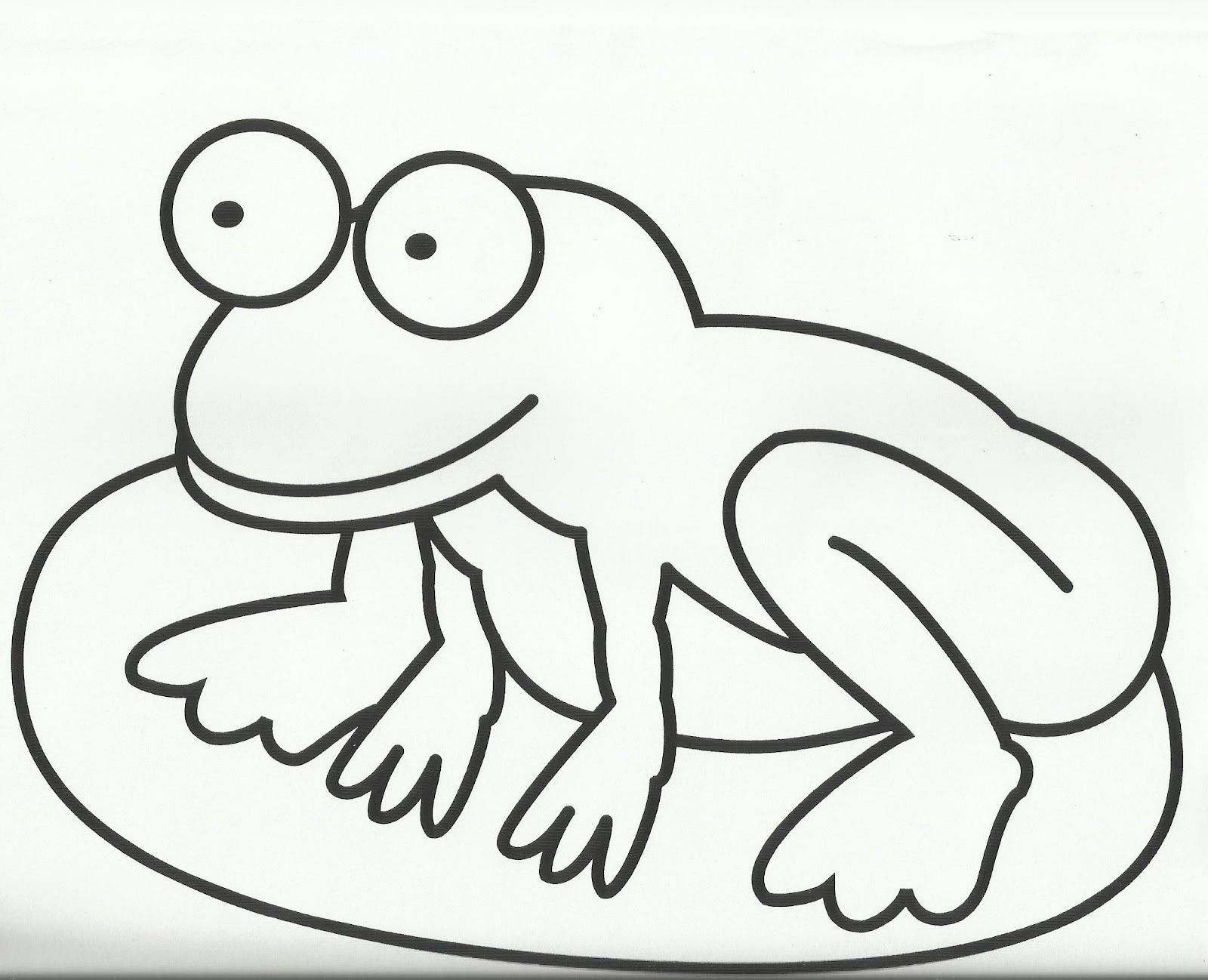 frog on lily coloring picture - Frog Coloring Pages Free Printable 2