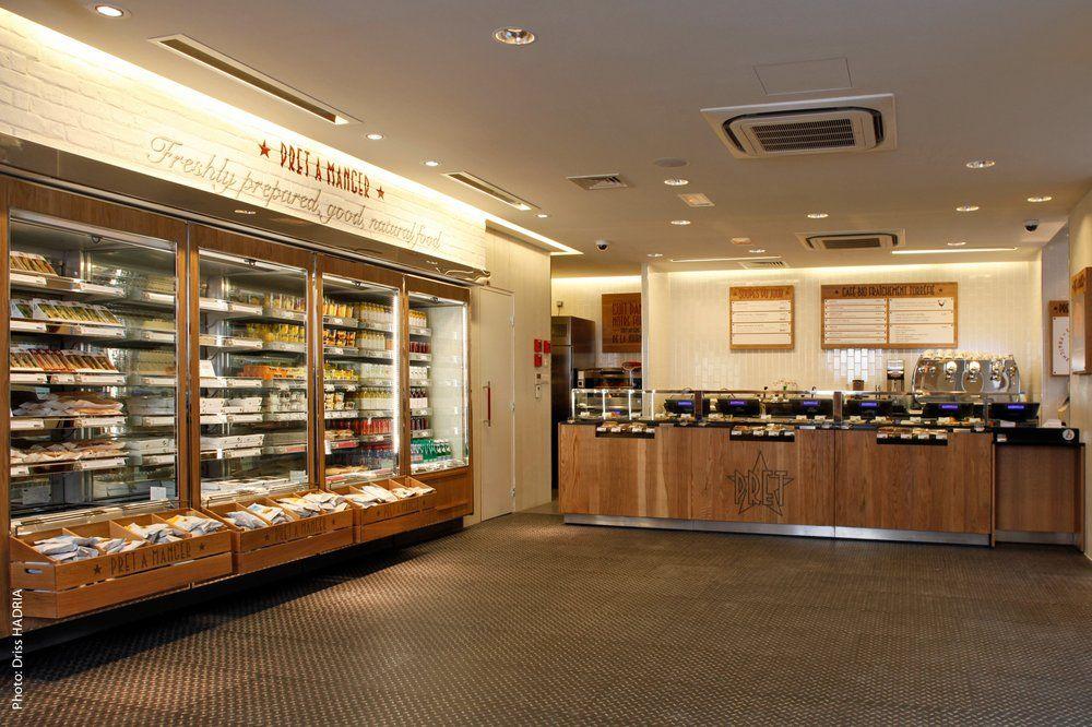 pret a manger retail interior