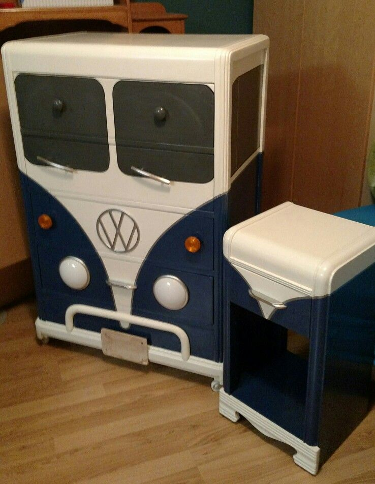 Vw Dresser W Nite Stand Refinishing Furniture Redo