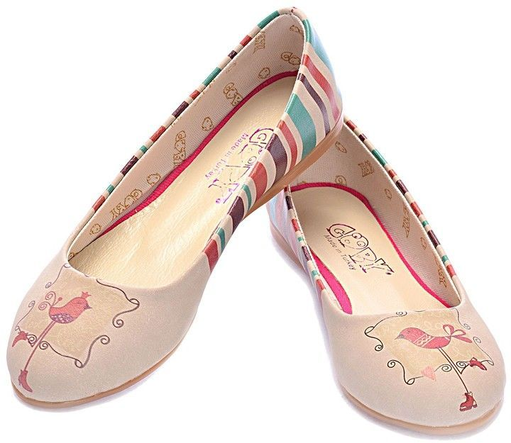 Goby Printed Ballerina Flat