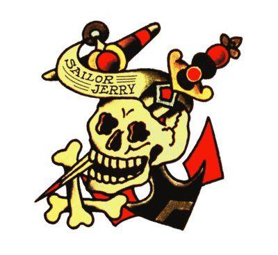 Sailor Jerry Skull and Anchor, Sailor Jerry, T Shirt Design, Rockabilly, Psychobilly, Vulture Graffix, Tattoo Design http://vulturegraffix.onlineshirtstores.com/