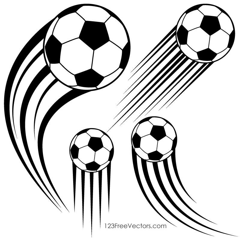 Soccer Ball In Motion Clipart