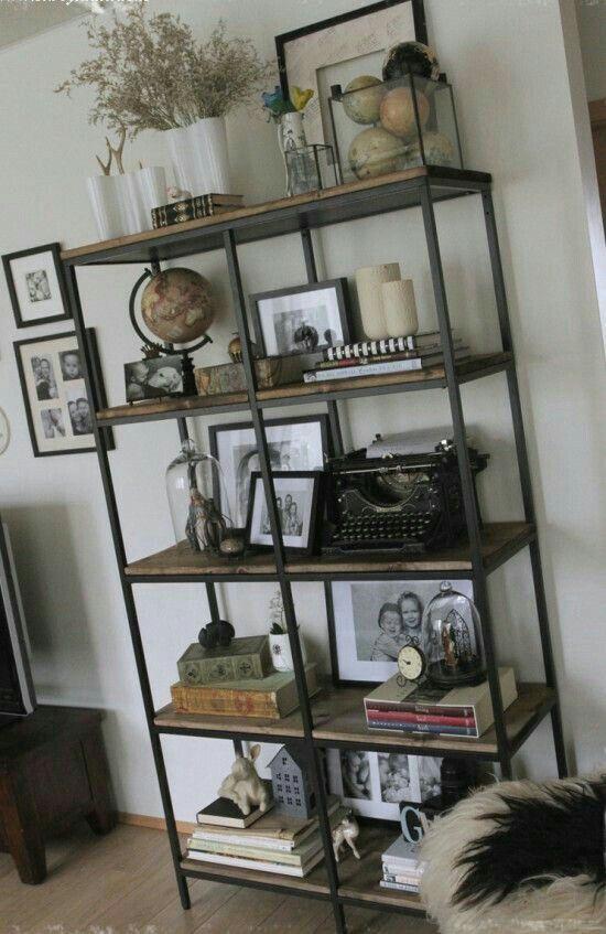 kast metaal boekenkast industrieel stoerekast stijerhout dekistenkoning