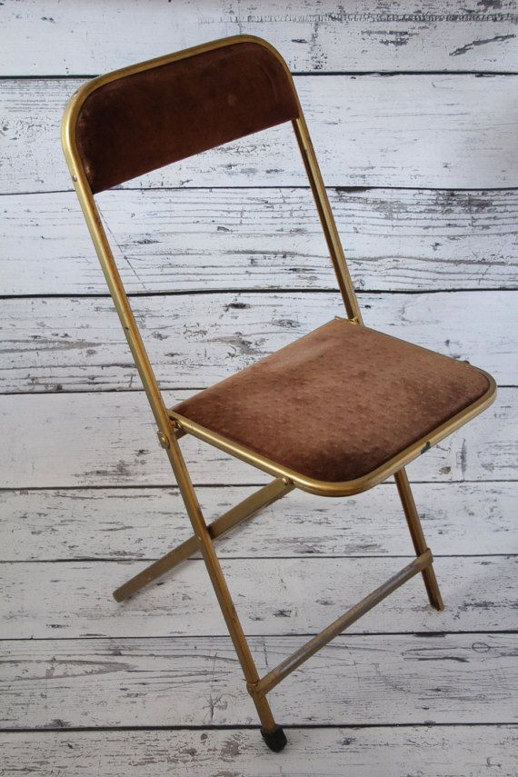 Awesome Vintage A. Fritz U0026 Co Folding Chair Gold By BrooklynBornFinds