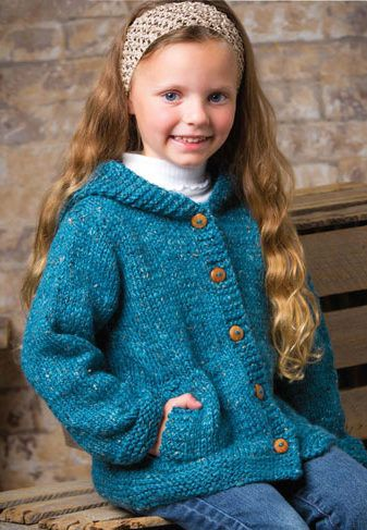 d1174572ddb2 Knitting Pattern for Cadet Hooded Cardi - Hooded cardigan with lots ...