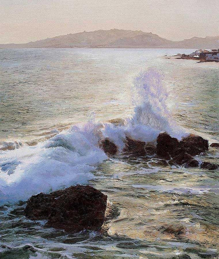 Китайский художник YuZengjie и его морские пейзажи