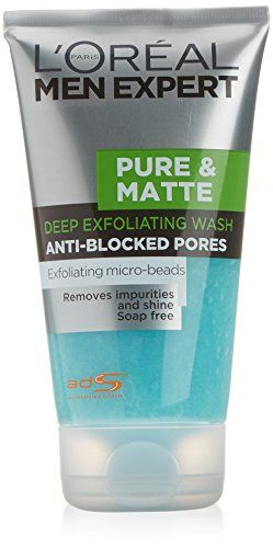 Loreal Men Expert Pure And Matte Scrub 150ml By Loreal Paris Http Ift Tt 2kjoe3d Exfoliating Face Wash Scrub Face Wash Pure Products