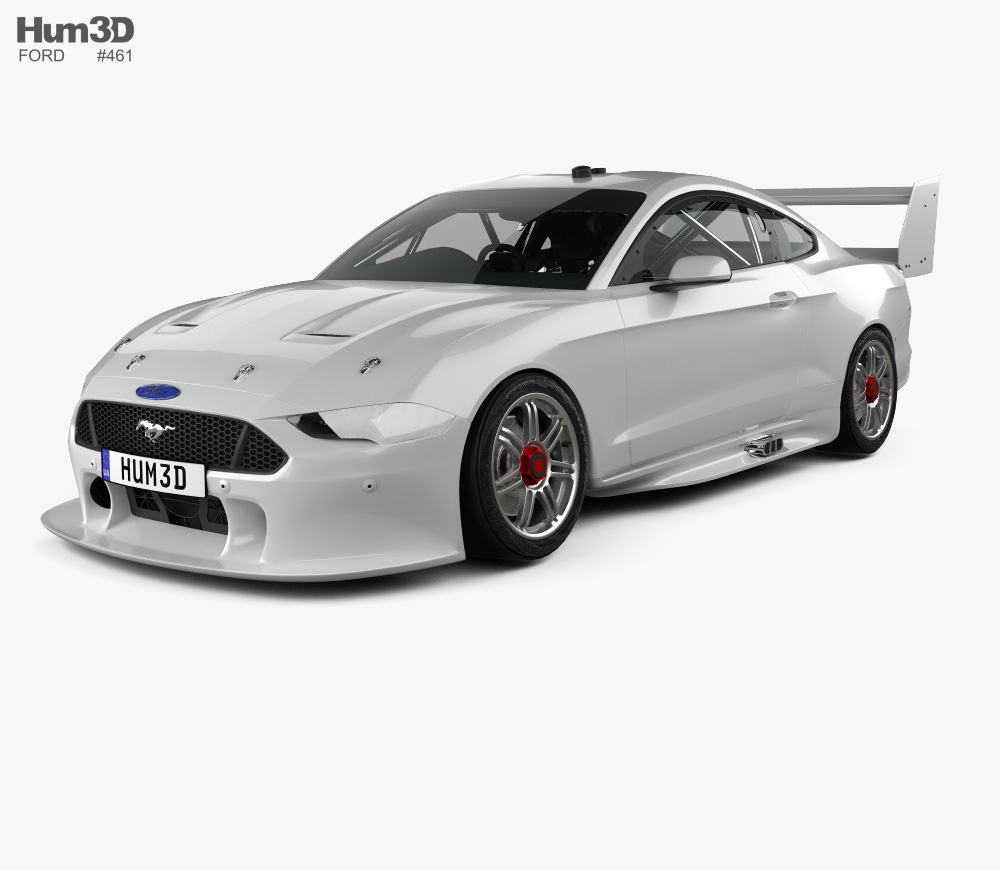 3d Model Of Ford Mustang V8 Supercars 2019 In 2020 Ford Mustang V8 Mustang V8 Super Cars