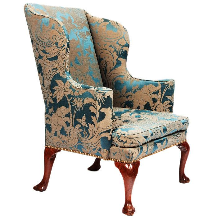 George I Upholstered Wingback Armchair | From a unique collection of antique  and modern wingback chairs - George I Upholstered Wingback Armchair From A Unique Collection Of