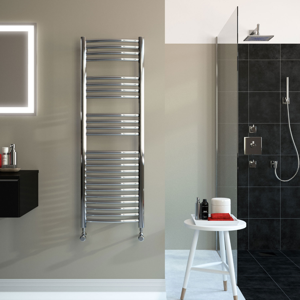 Radox Premier Xl Curved Heated Towel Rail 1800mm H X 600mm W Stainless Steel With Images Towel Rail Stainless Steel Polish Tall Cabinet Storage