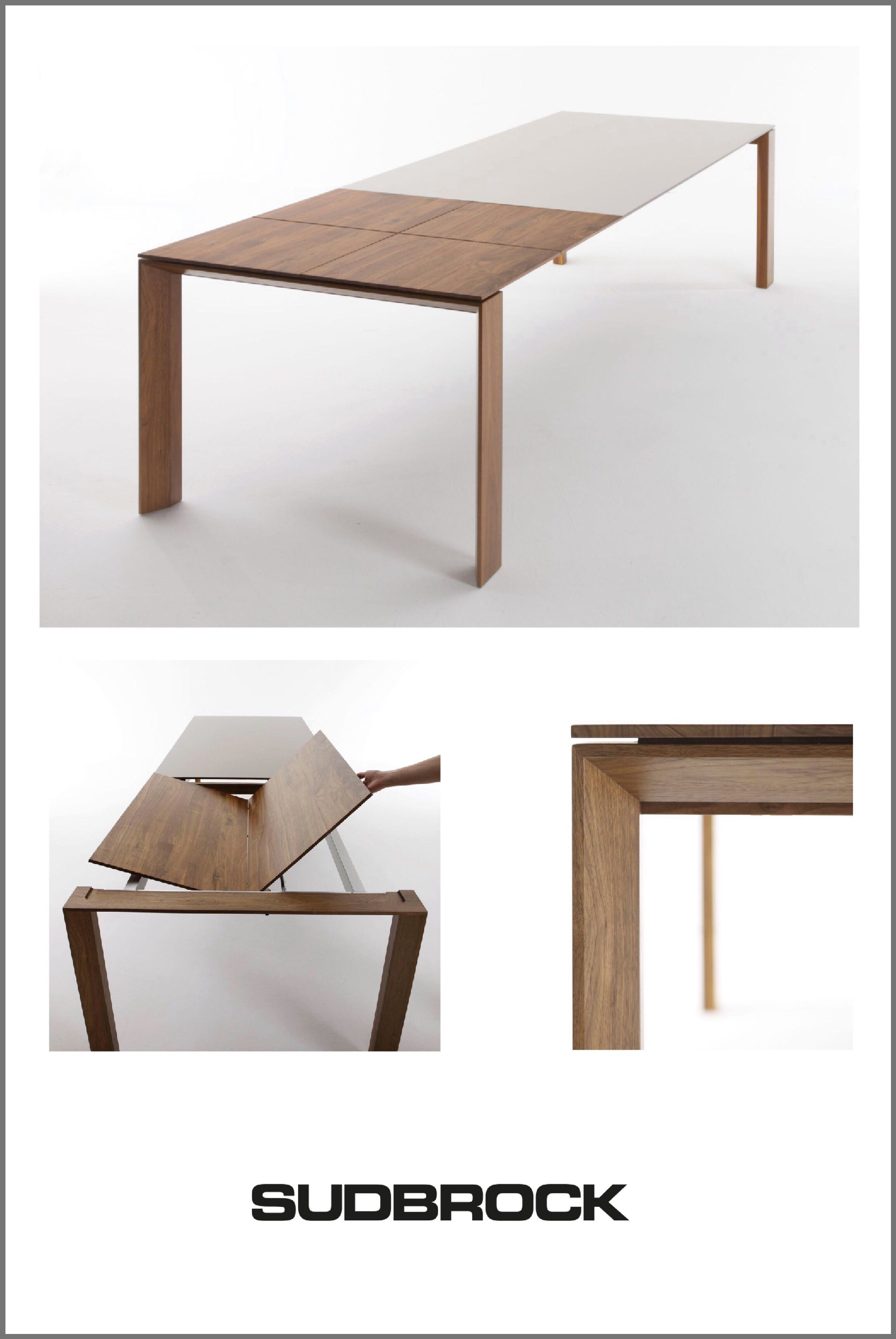 Extendable Dining Table Pondus By Sudbrock Space Saving Dining Table Extendable Dining Table Furniture