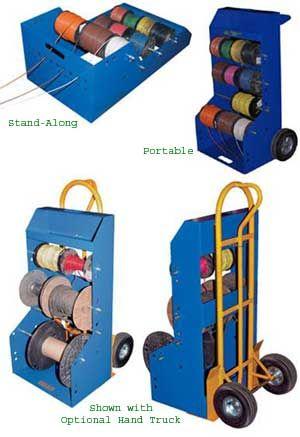 Wire Spool Rack Electrical Reel Caddy Storage Organization Holder Electrician