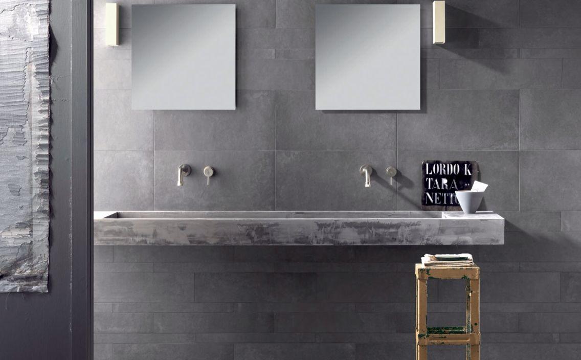 Salle De Bain Nevada ~ salle de bain carrelage gris mural imitation beton cir salle de