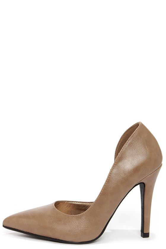 f0b26129825 My Delicious Mitten Taupe D'Orsay Pumps | Dresses | Mittens, Shoe ...