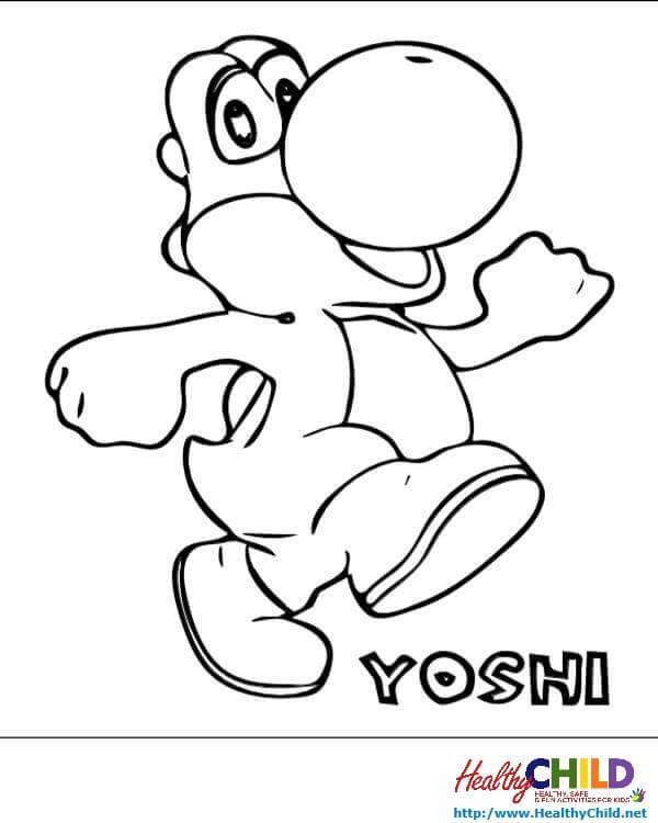 Super Mario Yoshi Coloring Pages | super mario yoshi coloring pages ...