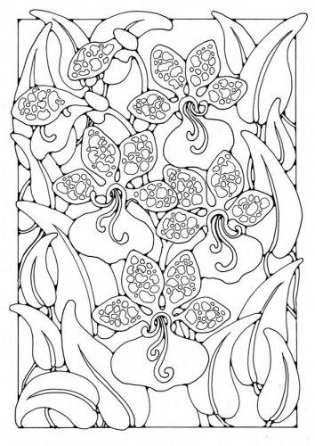 orchidee n art line drawings pinterest ausmalen blumen und ausmalbilder. Black Bedroom Furniture Sets. Home Design Ideas