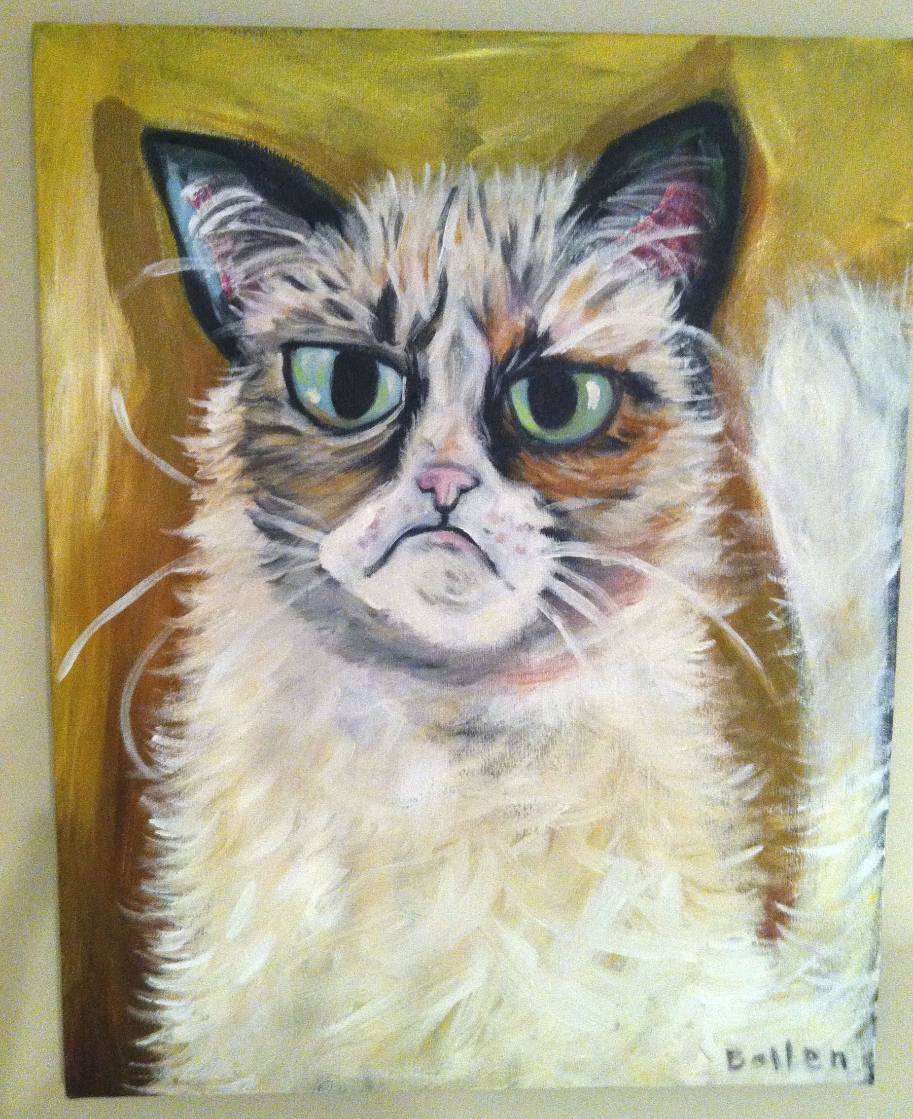 Grumpy Cat, painted by MBollen