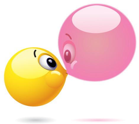 Big Bubble | Emoticon, Big bubbles and Kiss