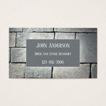 Bricklayer stone masonry business card stone masonry bricklayer stone masonry business card colourmoves