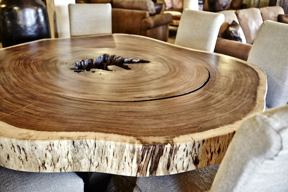 Round Wood Slab Dining Table Wood Tables Pinterest Wood Slab