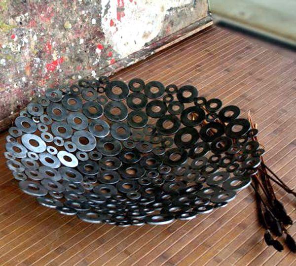 metal washer bowl hmmm pinterest. Black Bedroom Furniture Sets. Home Design Ideas