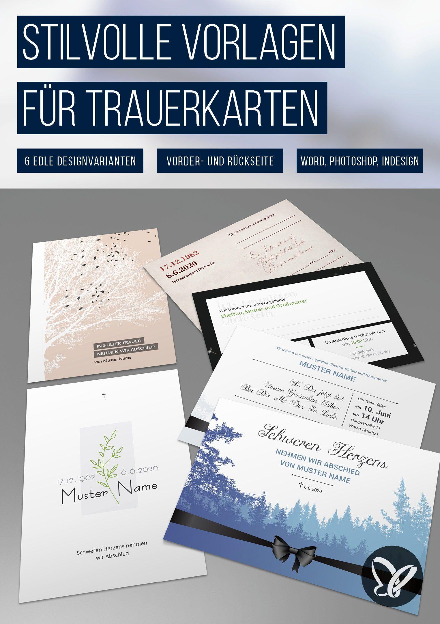 Trauerkarten Vorlagen Fur Einladungen Zu Beerdigung Und Trauerfeier In 2020 Vorlagen Einladungskarten Einladungen