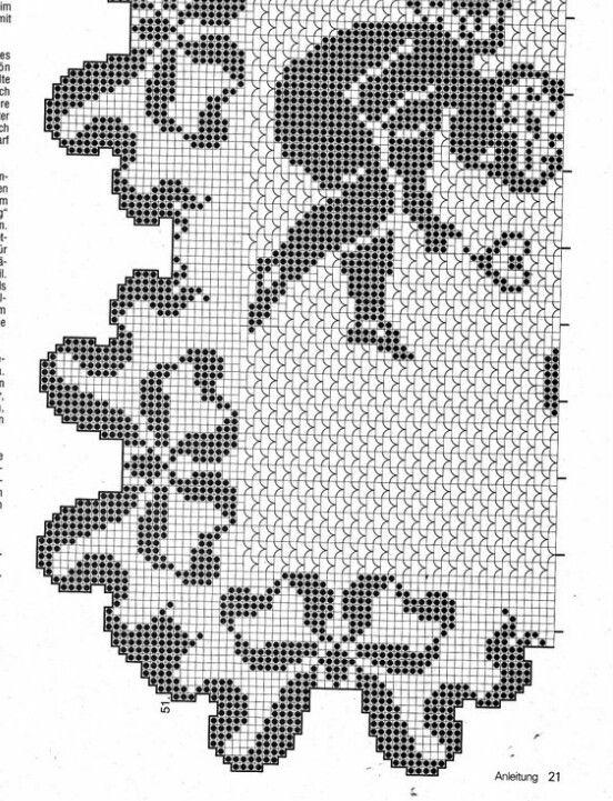 Instagram. PICTURE ONLY. Filet crochet diagram | Filet crochet ...