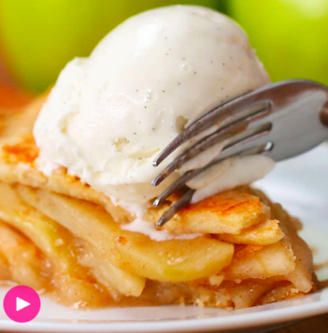 Apple Pie From Scratch is part of Apple pie from scratch - Here's what you need vanilla ice cream, flour, salt, butter, ice water, granny smith apple, sugar, flour, salt, cinnamon, nutmeg, lemon, egg, sugar