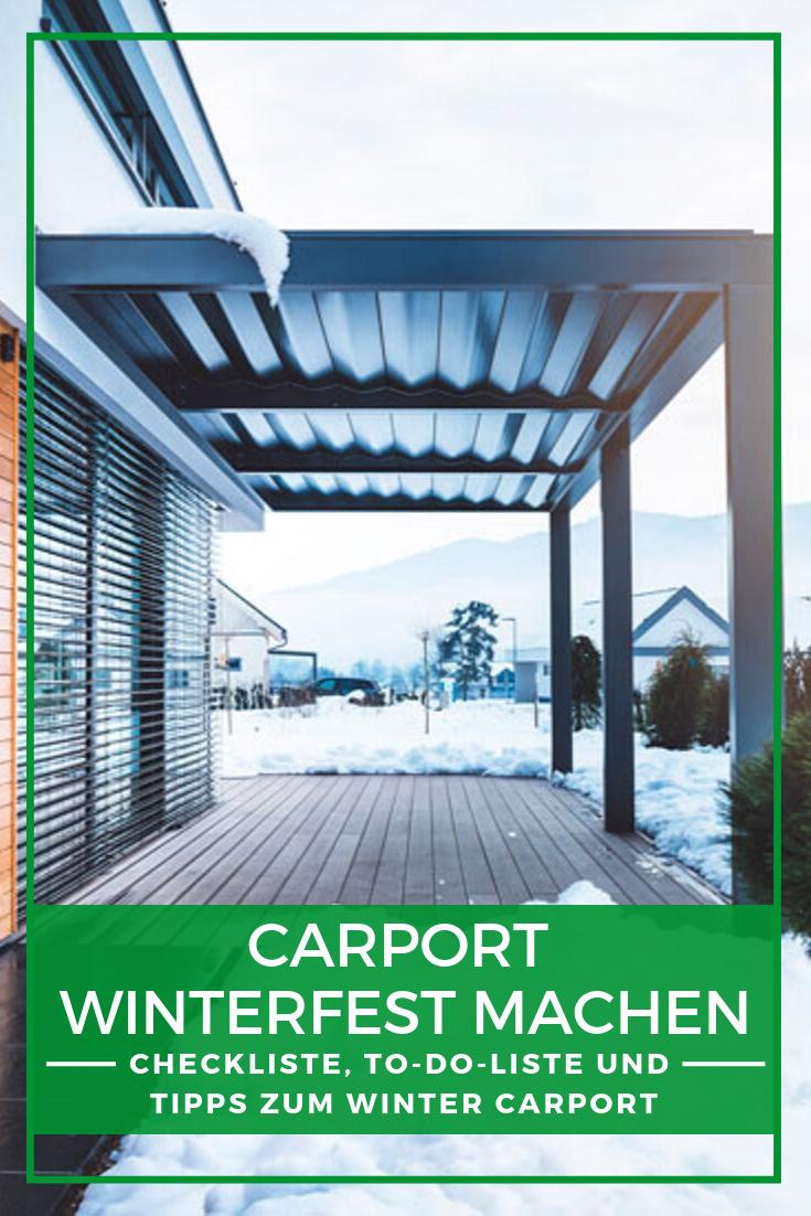 Carport Schneelast Im Winter sind die Belastungen für Ihr