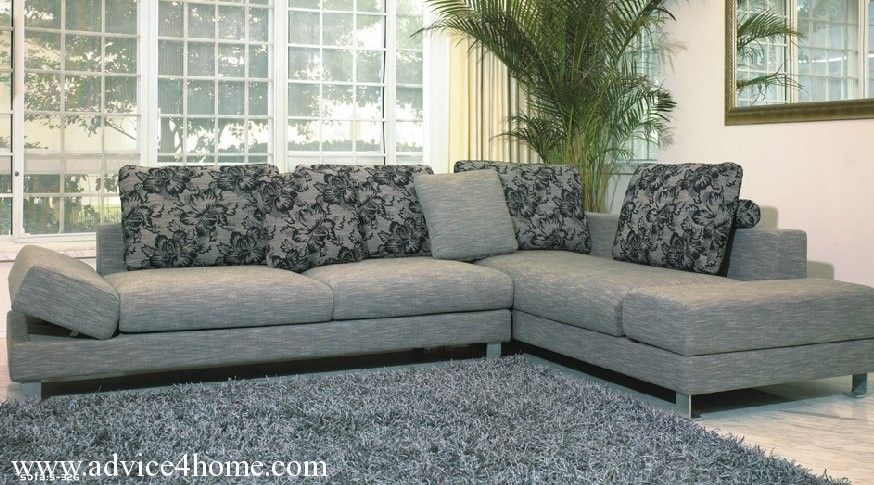Gray L Shape Sofa Design In Living Room