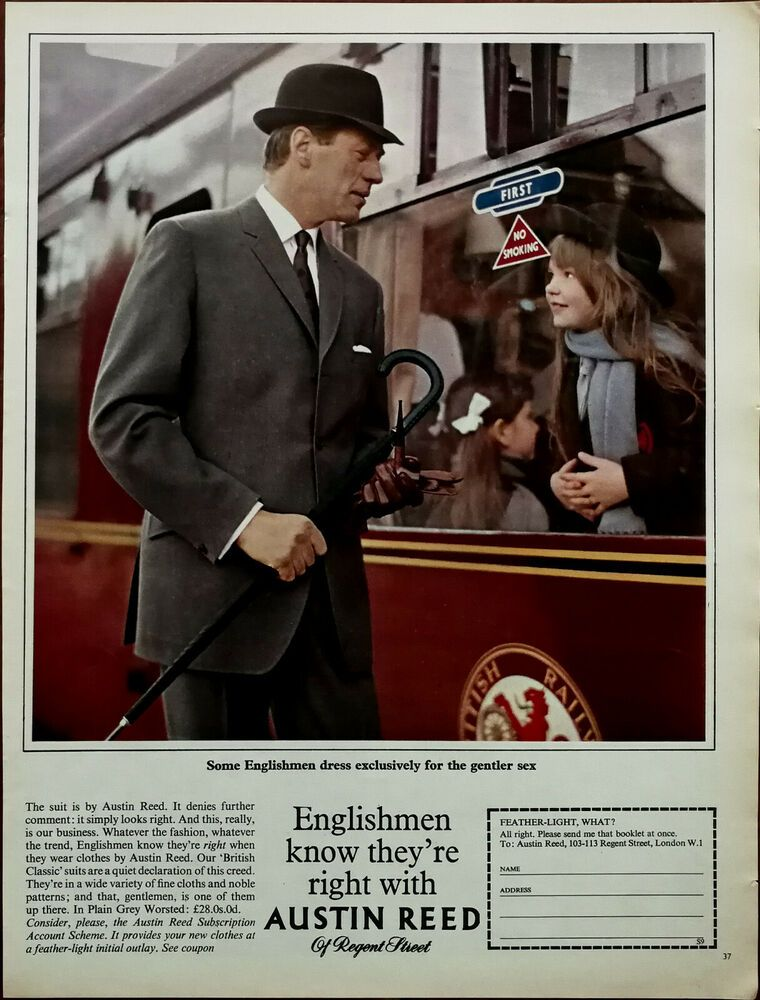 Austin Reed Of Regent Street English Men Know They Re Right Vintage Advert 1965